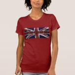 Grungy Union Jack Flag Tee Shirt