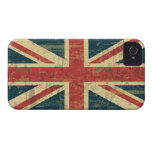Grungy Union Jack iPhone 4 Case-Mate Case