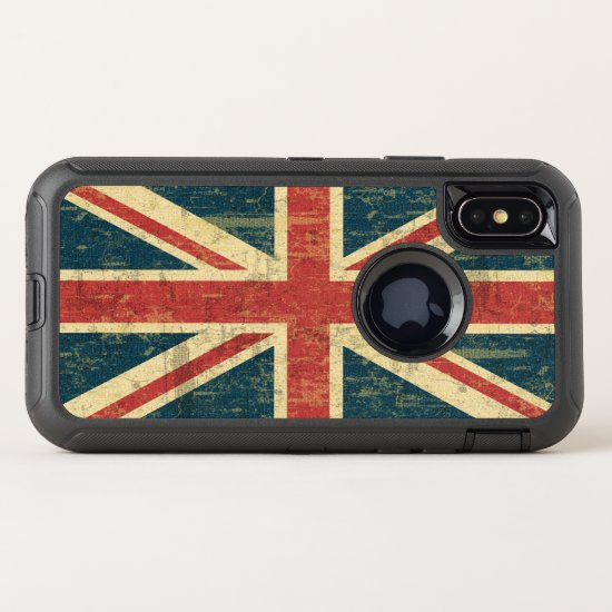 Grungy Union Jack OtterBox Defender iPhone X Case