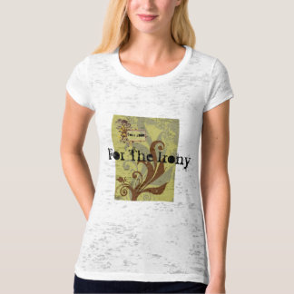 grungy_vector, tree_frame, For The Irony, Tour ... T Shirt
