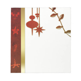 Grungy Vintage Gold Christmas - Notepad