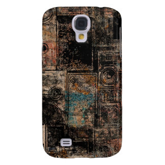 Grungy Vintage Speakers Collage Galaxy S4 Cover