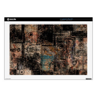 "Grungy Vintage Speakers Collage 17"" Laptop Skin"