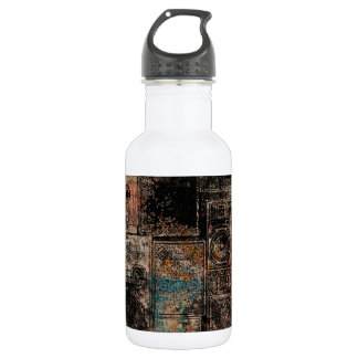 Grungy Vintage Speakers Collage Stainless Steel Water Bottle