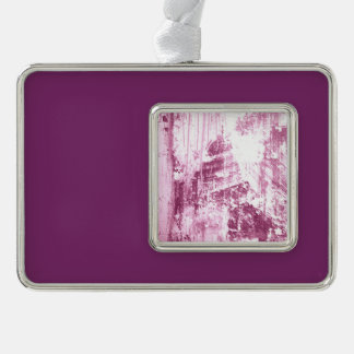Grungy wall,pink silver plated framed ornament