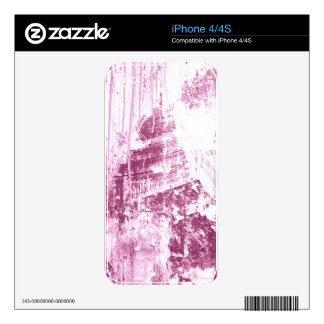 Grungy Wall,pink Skin For iPhone 4S