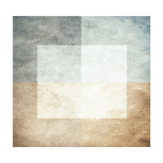 grungy watercolor-like graphic abstract stretched canvas print