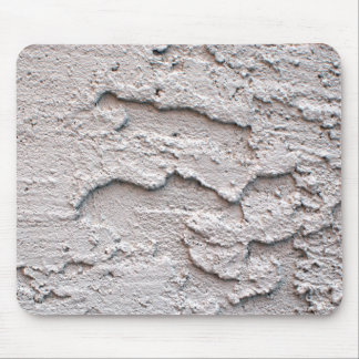 Grungy White Stucco Mouse Pad