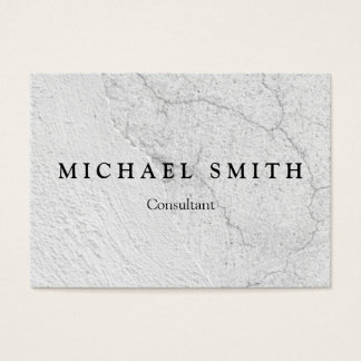 Grungy white stucco wall background business card
