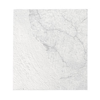 Grungy white stucco wall background note pad