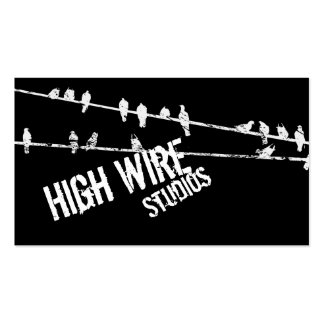Grungy Wire & Birds Business Cards