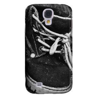 Grungy Work Boots - Black and White Samsung Galaxy S4 Case