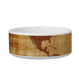 Grungy World Map Textured Bowl
