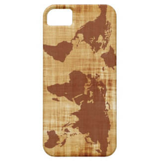 Grungy World Map Textured iPhone 5 Cover