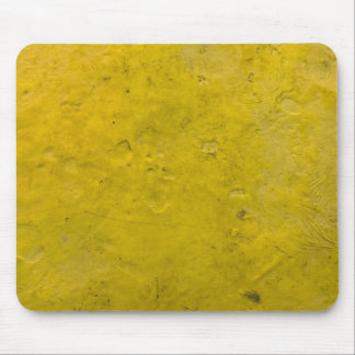 Grungy Yellow Paint Mouse Pad