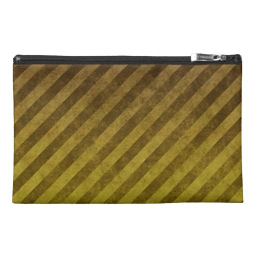 Grungy Yellow Stripes Travel Accessory Bag