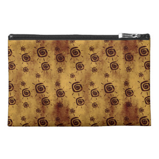 Grungy Yellow Sun Pattern Travel Accessories Bags