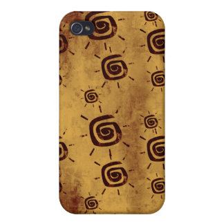 Grungy Yellow Sun Pattern iPhone 4/4S Cases