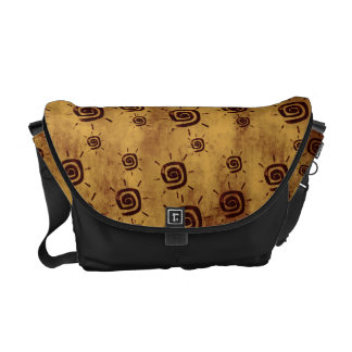 Grungy Yellow Sun Pattern Courier Bag