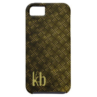 Grungy Yet Professional men's olive green black iPhone SE/5/5s Case