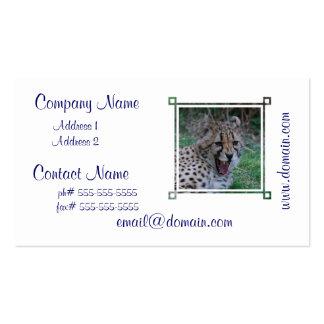 Gruñido del guepardo tarjeta de negocio
