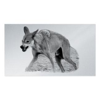 Gruñido del lobo de madera tarjetas personales