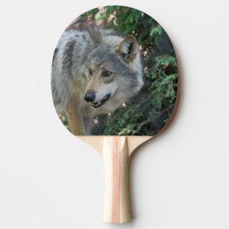 Gruñido del lobo pala de ping pong