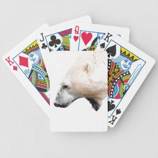 Gruñido del oso polar baraja cartas de poker