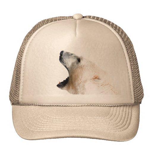 Gruñido del oso polar gorras de camionero