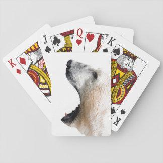 Gruñido del oso polar barajas de cartas