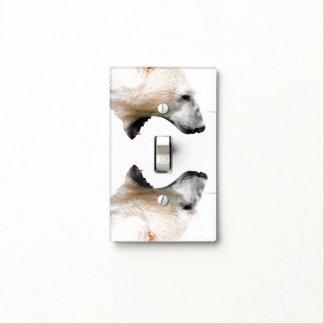 Gruñido del oso polar placas para interruptor