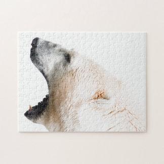 Gruñido del oso polar rompecabeza