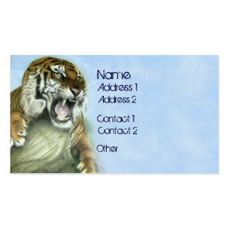 Gruñido del tigre plantilla de tarjeta personal