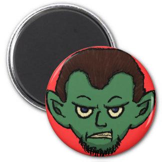 Gruñido del vampiro imán redondo 5 cm