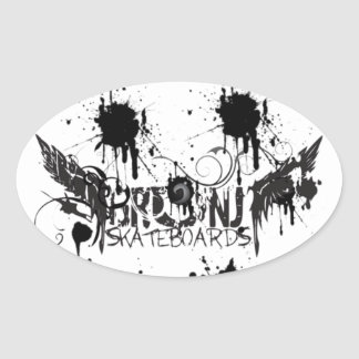GrunJ Fit Sticka Oval Sticker