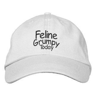 Gruñón felino hoy gorras de beisbol bordadas