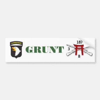 GRUNT B Co 3/187 Infantry Bumper Sticker