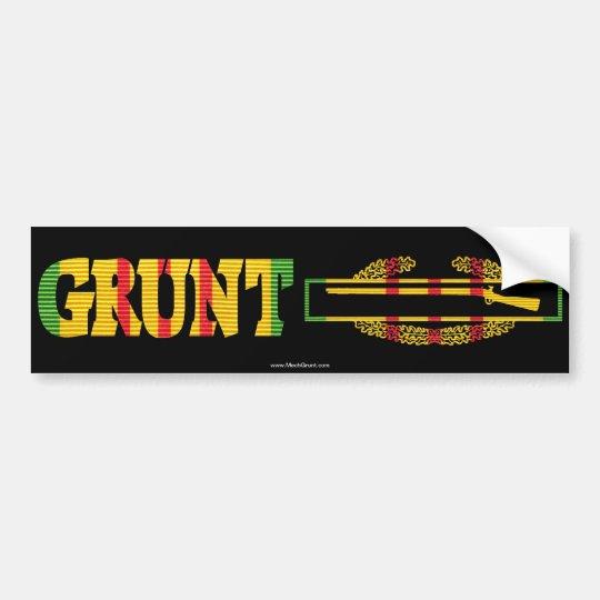 GRUNT Combat Infantryman Badge Bumper Sticker