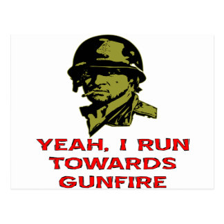 Grunt I Run Towards Gunfire Postcard