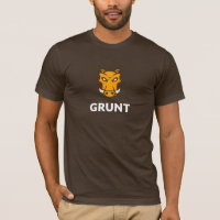 Grunt JS T-shirt (Brown)