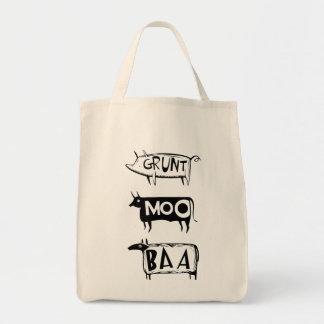 Grunt Moo Baa Tote Bags