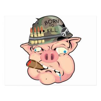 GRUNT PIG POSTCARD