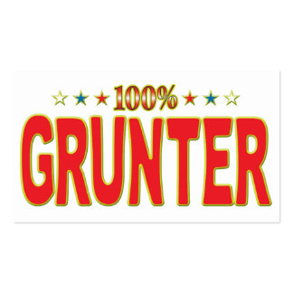Grunter Star Tag Pack Of Standard Business Cards