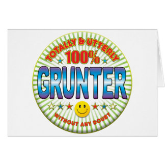 Grunter Totally Greeting Card