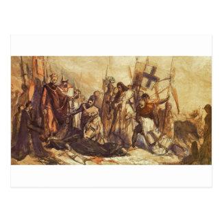 Grunwald battlefield by Jan Matejko Postcard