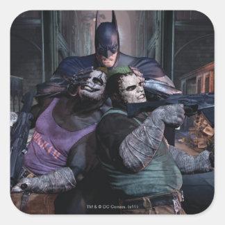 Grupo 2 de Batman Calcomania Cuadrada Personalizada