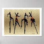 Grupo africano de la danza impresiones
