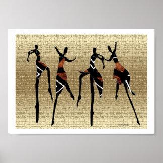 Grupo africano de la danza póster