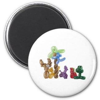 grupo animal del globo imán redondo 5 cm