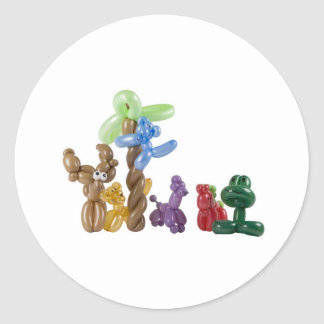 grupo animal del globo pegatina redonda